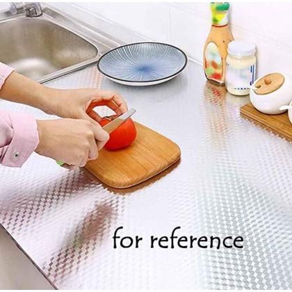 Aluminium Foil Paper Mats Oil Kitchen Backsplash Wallpaper Contact Paper Stickers, Kitchen Stickers Self Adhesive Kitchen Aluminum Foil Stickers Oil Proof Waterproof Kitchen Stove Sticker