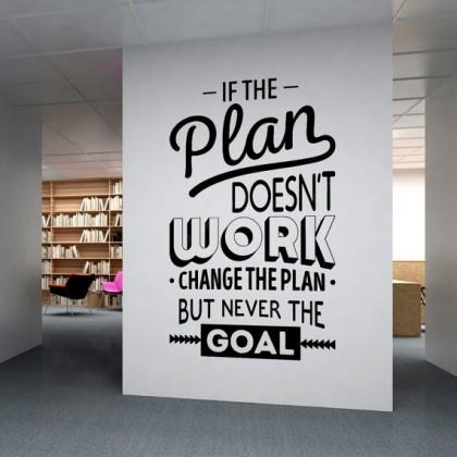 Office inspirational quotes plan goal wall art decoration sticker