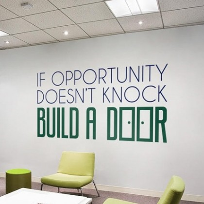 Office inspirational quotes opportunity wall art decoration sticker