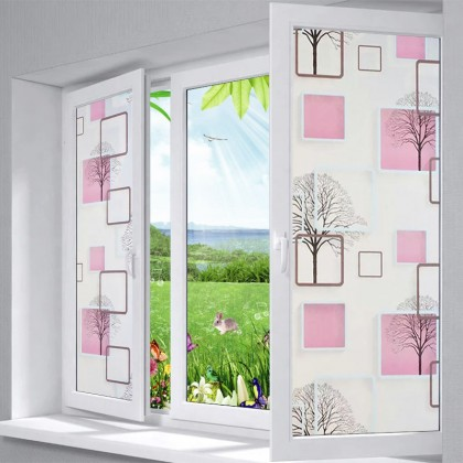 Modern DIY Background Privacy Glass Window Tinted Window Shading Film Tinted for Home