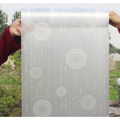 New Design White Circle Pattern DIY Background Privacy Glass Window Tinted Window Shading Film Tint