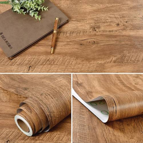 Wood Wood Texture Pvc Contact Paper Wallpaper Sticker Self Adhesive Removable Wood Peel And Stick Wallpaper