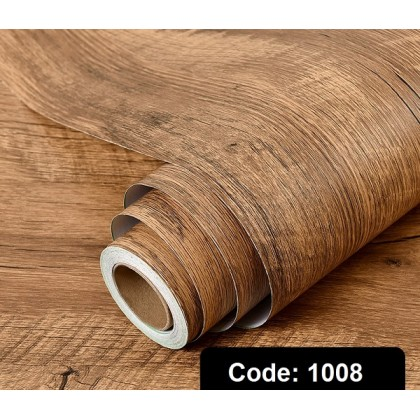 Wood Texture PVC Contact Paper Wallpaper Sticker Self-Adhesive Removable Wood Peel and Stick Wallpaper Decorative Wall Covering Vintage Wood Panel Interior Film Leave No Trace Surfaces Easy to Clean