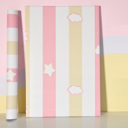 Girlish Pink Star refurbished sticker self-adhesive wallpaper waterproof oil-proof Sticker