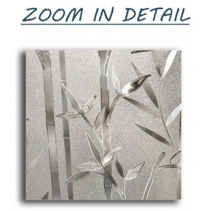 Bamboo 3D Frosted Glass Window Shading Film Tinted Privacy