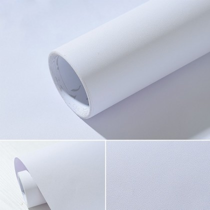 Matte White PVC Contact Paper Waterproof Wallpaper Sticker