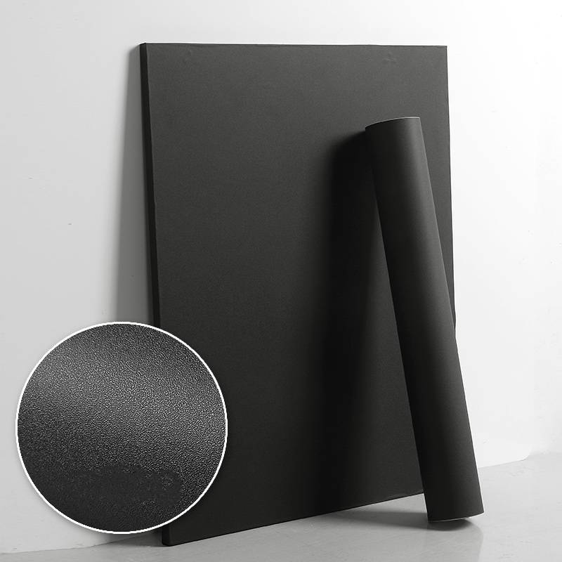 Matte Black Pvc Contact Paper Wallpaper Sticker