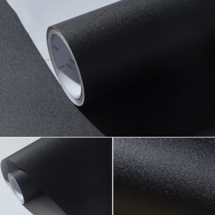 (Plain) Matte Black PVC Contact Paper Wallpaper Sticker