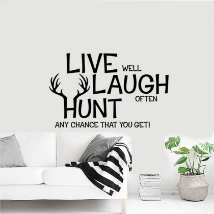 """Live Laugh Hunt"" Wallsticker- TYKS025"