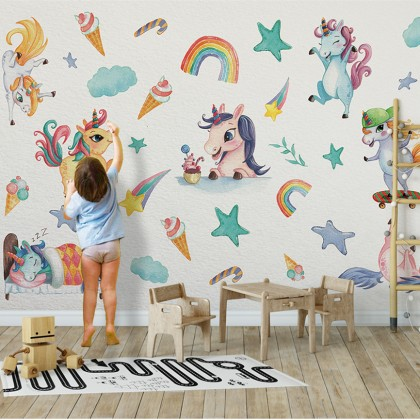 Unicorn wall decals home decoration removable sticker -TYKSD8808