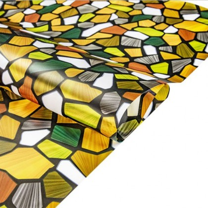 Colorful Stone Pattern Privacy Window Frosted Glass Anti-UV Window Tinted Sticker Sunscreen Decorative Film