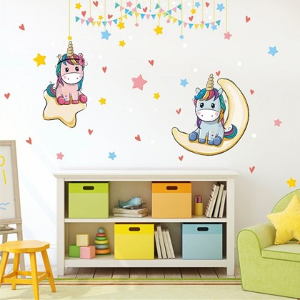 Cute Unicorn wall decals home decoration removable sticker -TYSK9333