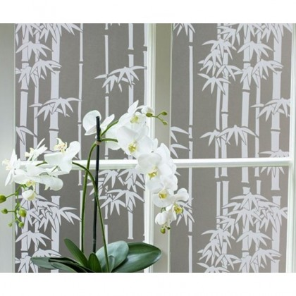 [HOT SELLING] Bamboo Pattern Frosted Glass Window Shading Film Tint [Width:90cm]