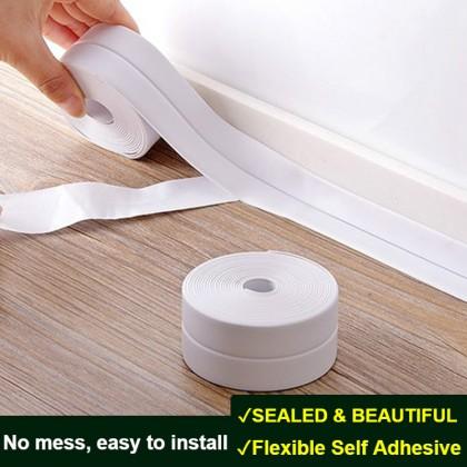 Kitchen Sink Washing Basin Self-Adhesive Waterproof Adhesive Tape Corner Line Sticking Strip Wall Stickers