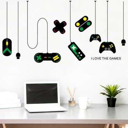 Game Boy machine tour removable wall stickers decorative