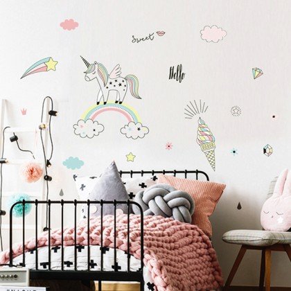 Unicorn removable wall stickers decorative Art