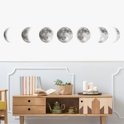 Space moon wall stickers home decoration Art