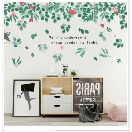 Green shade living room bedroom study background corridor decoration self-adhesive wall stickers