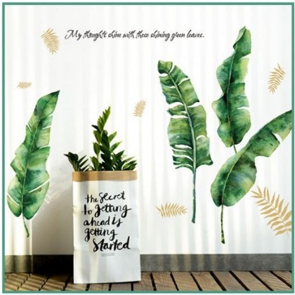 Leaves Simple Ins living room self-adhesive self-adhesive wall stickers