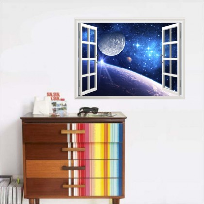 Star space stereo wall sticker bedroom living room galaxy background decoration sticker