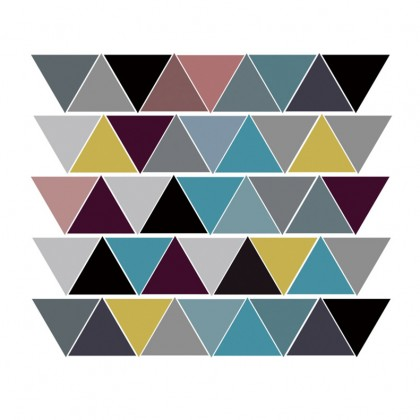 Colorful Triangle bedroom living room galaxy background decoration sticker