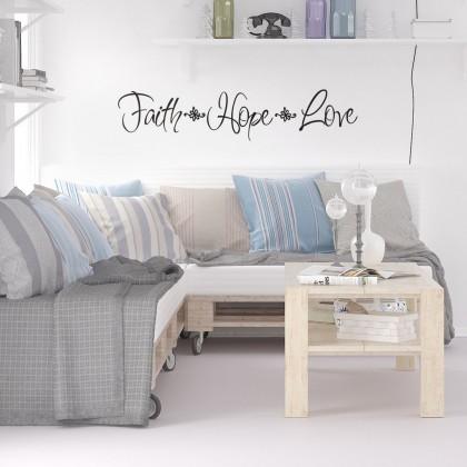 Faith Hope Love Wall Sticker Decoration -TYAF2768
