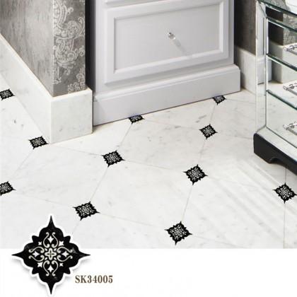 Creative tile diagonal floor stickers decoration waterproof wear-resistant self-adhesive