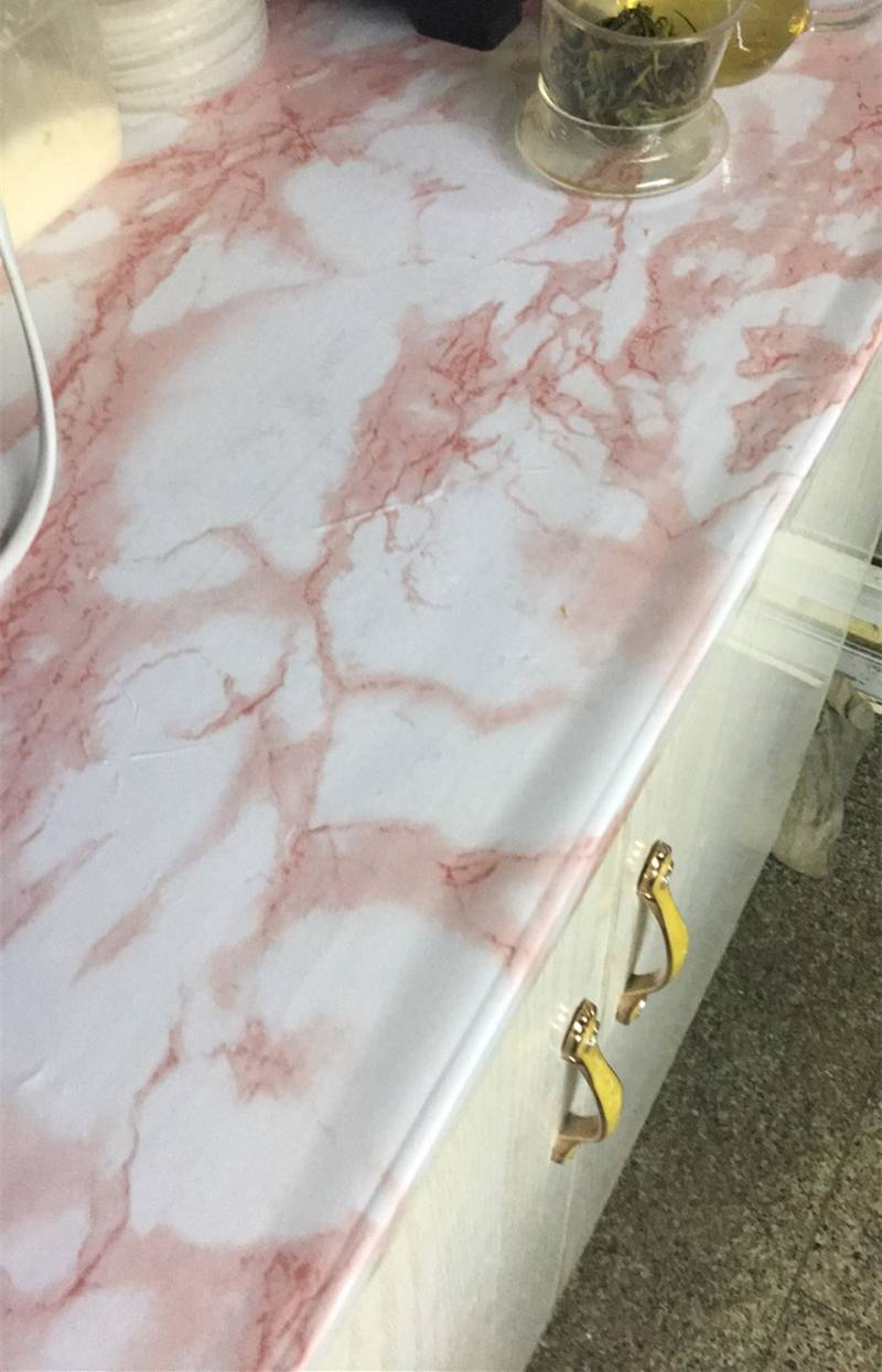 Waterproof Red Marble Contact Paper Wallpaper Sticker