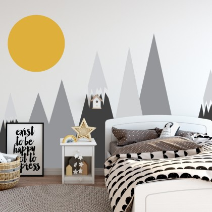 Nordic Style Kid Room Cartoon Decoration PVC Wall Sticker