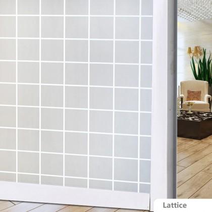 Lattice Pattern Background Window Shading Film Tint- WIDTH:90CM [CODE:T62]