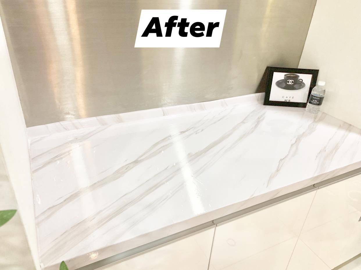 Waterproof White Marble Contact Paper Wallpaper Sticker Just