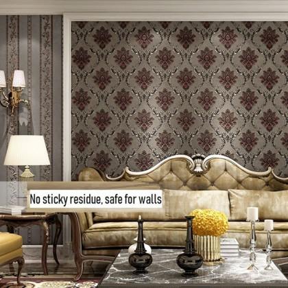 Damascus wallpaper waterproof luxury wall wallpaper