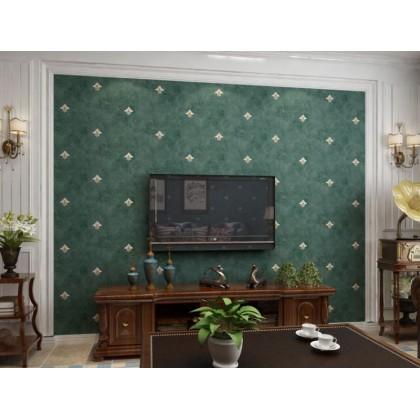 Dark green European flower European wallpaper