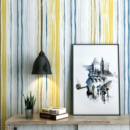 Nordic style vertical stripes wallpaper