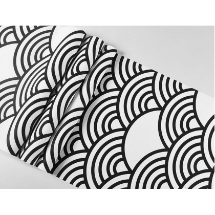 Zephyr Japan Waves Ukiyo Painted Wallpaper