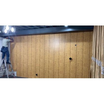 Japanese-style straw tatami simulation bamboo wallpaper