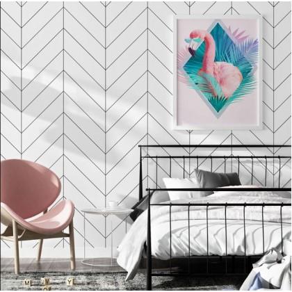 Nordic style wallpaper modern minimalist geometric pattern vertical strip shop bedroom living room TV background wallpaper