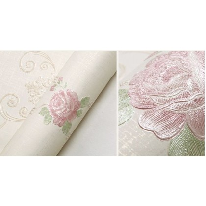 Pastoral small floral wallpaper