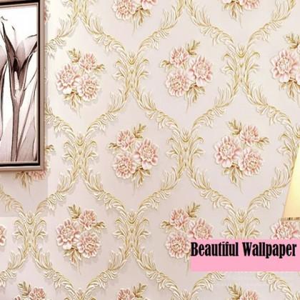 Pastoral non-woven wallpaper