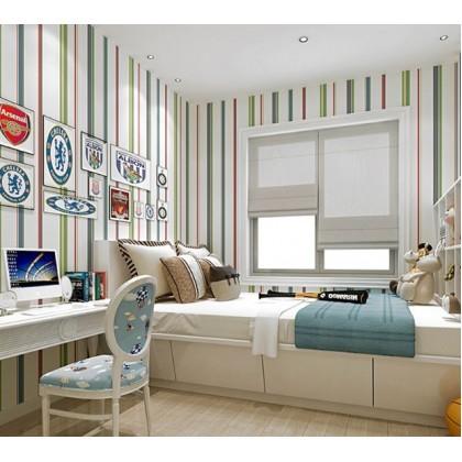 Blue vertical stripes wallpaper