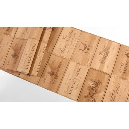 Imitation wood grain board wallpaper