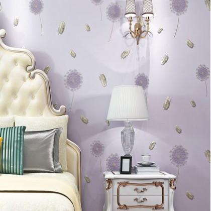 Floral purple dandelion wallpaper
