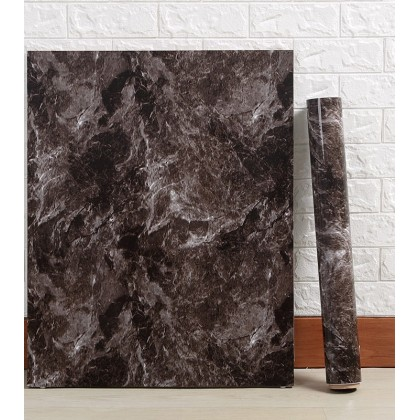 Brown Marble Contact Paper Waterproof Wallpaper Sticker