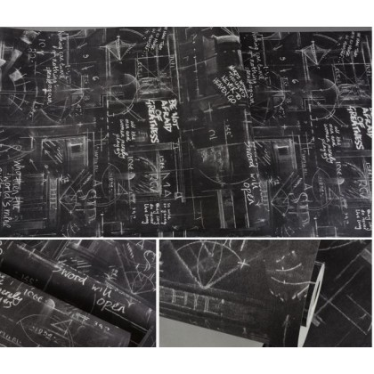 Cement graffiti poster english alphabet blackboard wallpaper