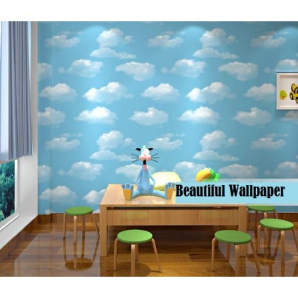 Blue sky, blue sky, white clouds wallpaper