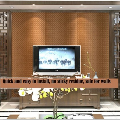 Simulation straw rattan wallpaper