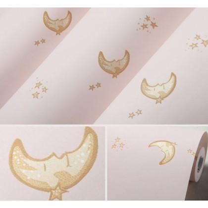 Non-woven starry sky, moon, moon wallpaper
