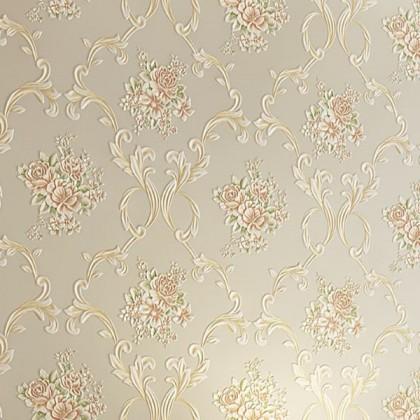 Non-woven embossed wallpaper