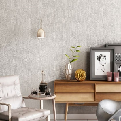 Japanese linen pure pigmented gray wallpaper