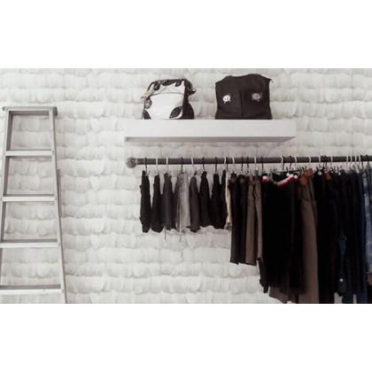 Nordic white fashion feather wallpaper